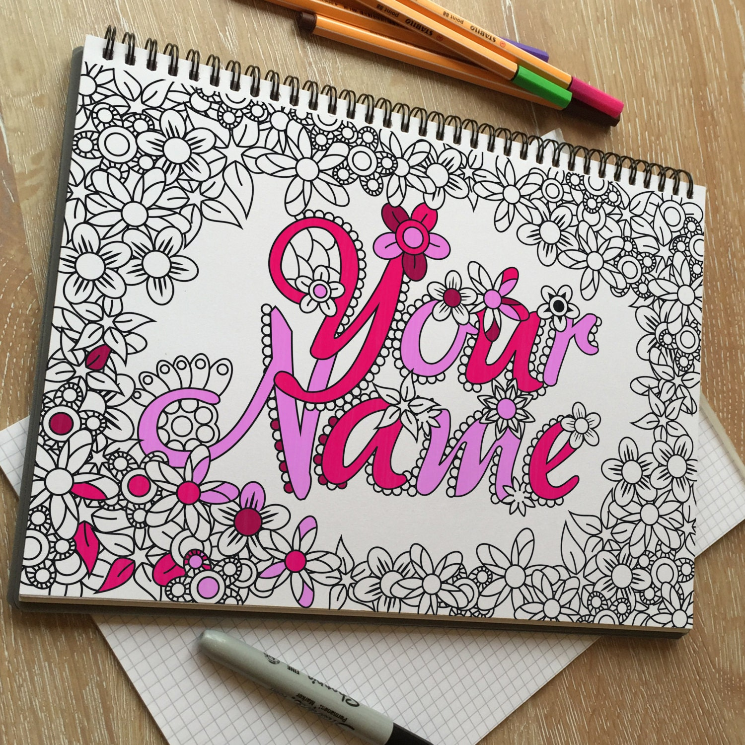 Your Name Custom adult coloring page Printable coloring