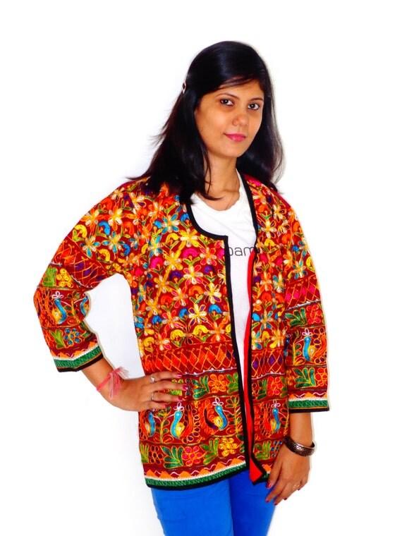 Indian rabari coat vintage banjara embroidered by