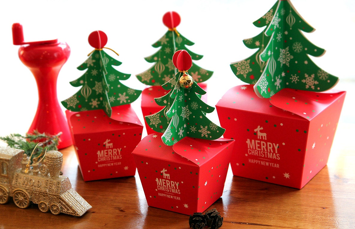 Small candy boxes Christmas tree packaging gift box of ... |Tiny Christmas Boxes