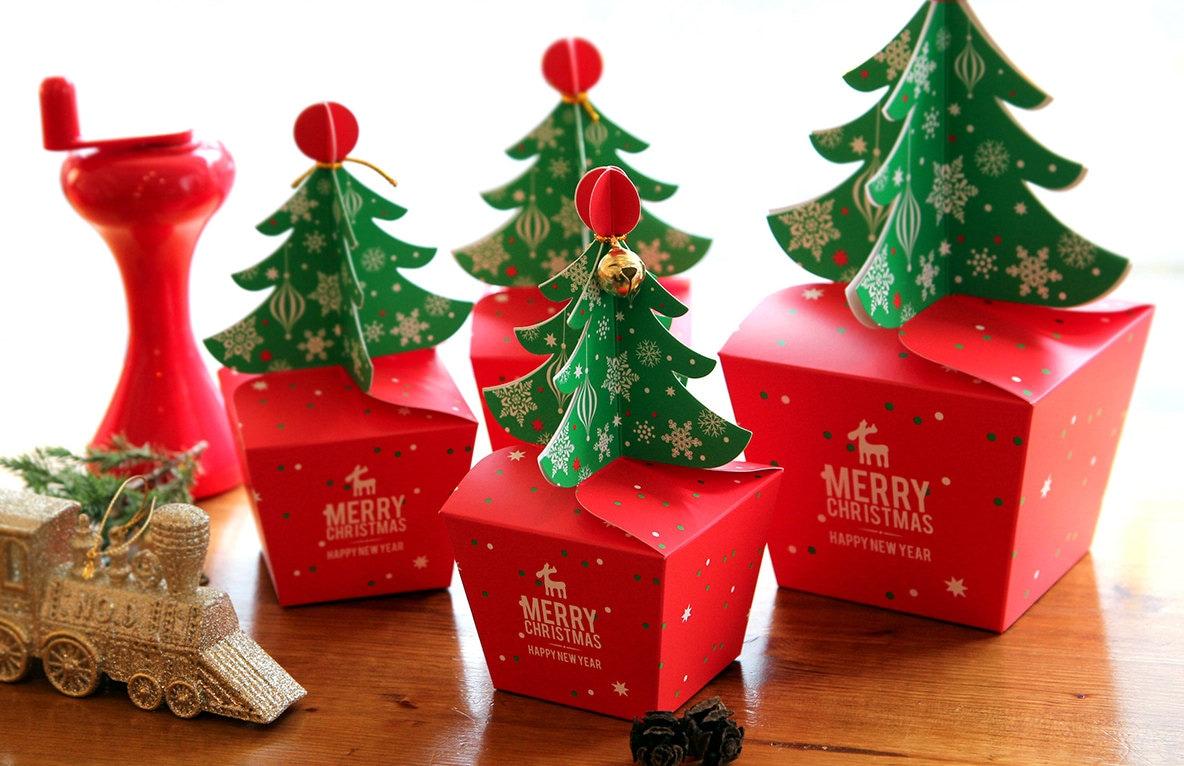 3 small christmas tree box christmas gift box christmas for Small christmas ideas