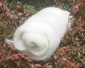 Undyed Romney / Alpaca Blended Batt for Spinning / Felting (2 ounce / 56 g)