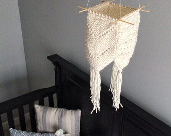 Knit Baby Mobile-Ecru Lantern