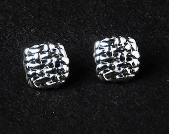 Woven Silver Studs