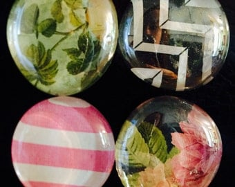 Pattern/floral Glass marble magnets