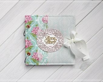 Bridal scrapbook album, Wedding photo album, Anniversary gift, Baby photo album, Wedding guest book, Birthday book, Wedding scrapbook album