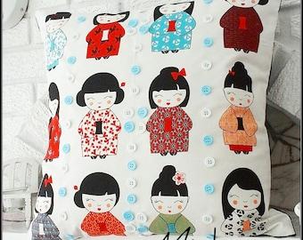 Handmade Unique cushions / pillows unique dolls Japanese doll