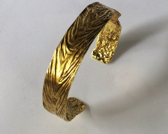 Brass Flame Cuff - Narrow
