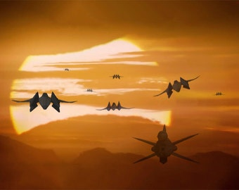 StarFox Sunset, Star Fox Star Wars Scene Mashup, Star Fox Digital Artwork, Mashup Artwork