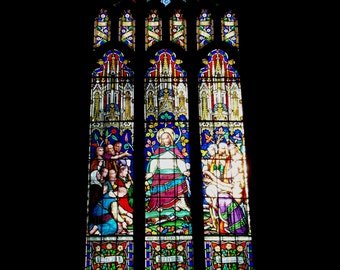 Stained Glass Church Window Photo Print (available in A4 or A5 size)