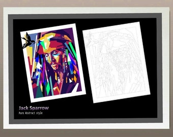 Jack Sparrow- Pure Abstract style
