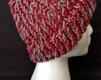 Red and Grey Beanie