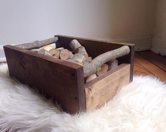 Small Wooden Storage Crate