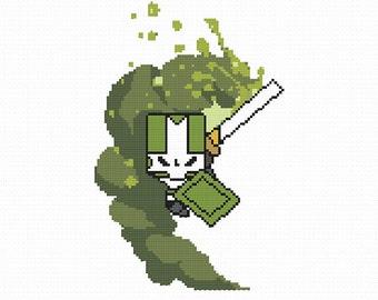 Green Knight (Castle Crashers) Cross Stitch Pattern (PDF)