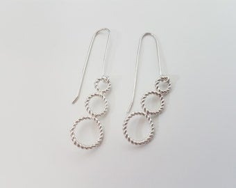 Stylish Twisted Wire Earrings
