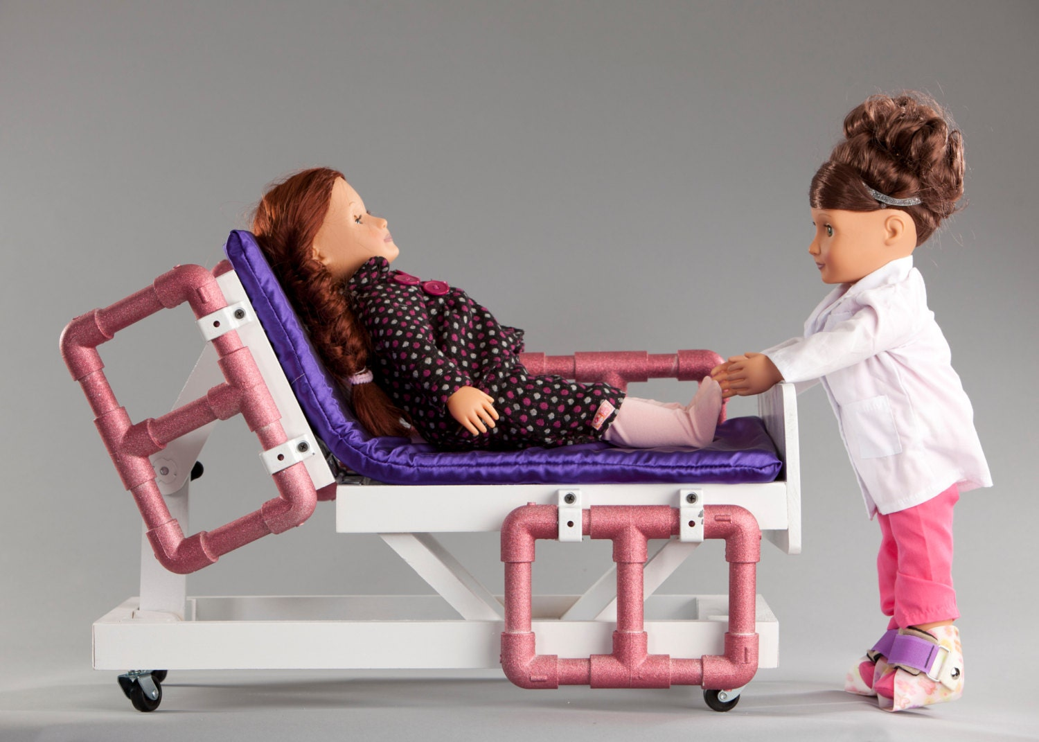 American Made Bedroom Furniture Hospital Bed Compatible With American Girl Or 18 Inch Doll