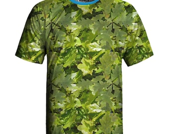 White-Oak Print Eco-friendly T-shirt