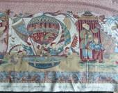 tissu français Pierre Frey, lambrequin Mongolfières, imprimé au cadre à la main