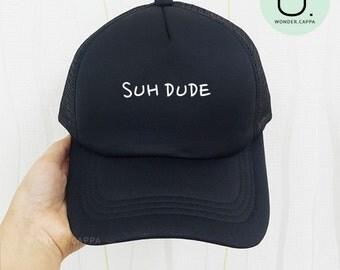Suh Dude Baseball Hat Cotton Foam Mesh Trucker Cap Embroidered Cap
