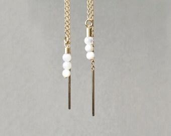 Earrings pearls of Pearl and gold 14 Karat