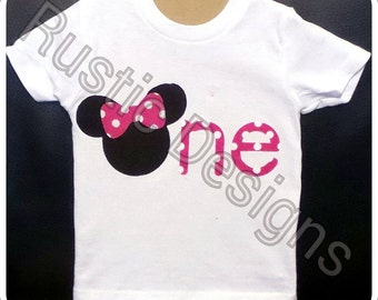 Minnie Mouse ONE Birthday Shirt