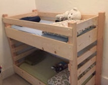 Toddler Bunk Bed DIY Plans (Extended Size - IKEA 63 inch Vinka Mattress)