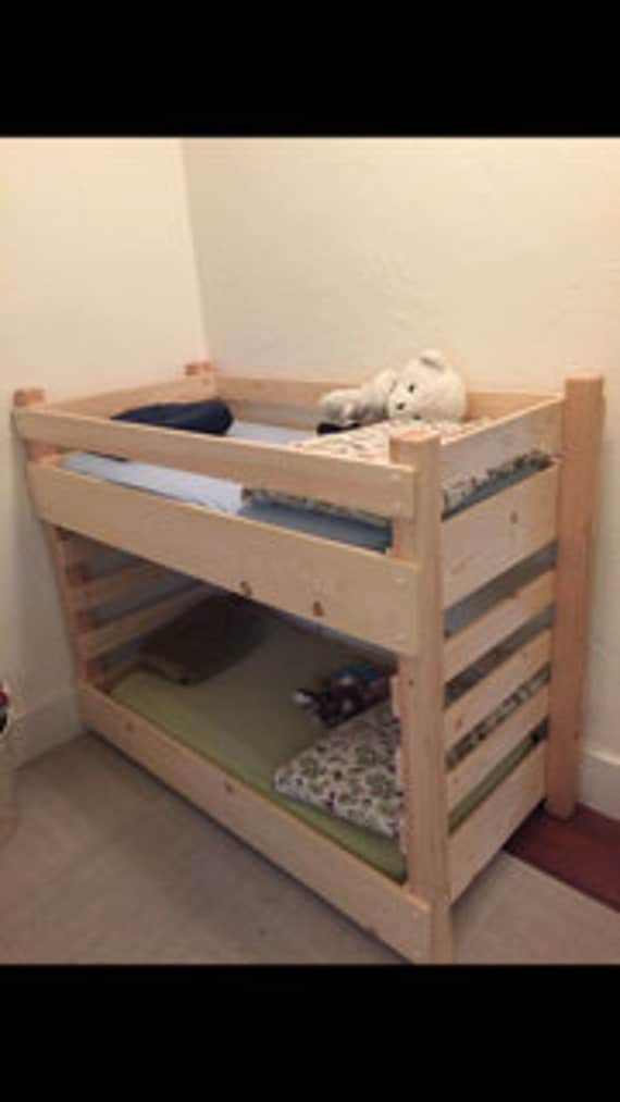 25 Diy Bunk Beds With Plans: Toddler Bunk Bed DIY Plans Extended Size IKEA 63 Inch