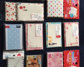 CUTE MINI All Occassion Notecards (Japan)