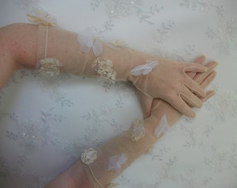Bridal Tulle Gloves Vintage Veiling Gloves Wedding Accessories Lace Mittens Bridal  Accessory Bridal Mittens Ladies' gloves Bridesmaid