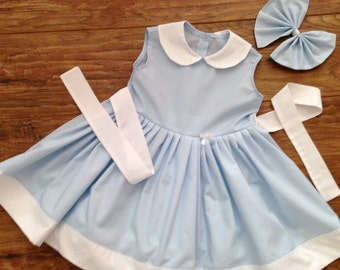 Baby Girls Handmade Cotton Sleeveless Dress Attached Petticoat Colour Options Age 3 Months To 10 Years