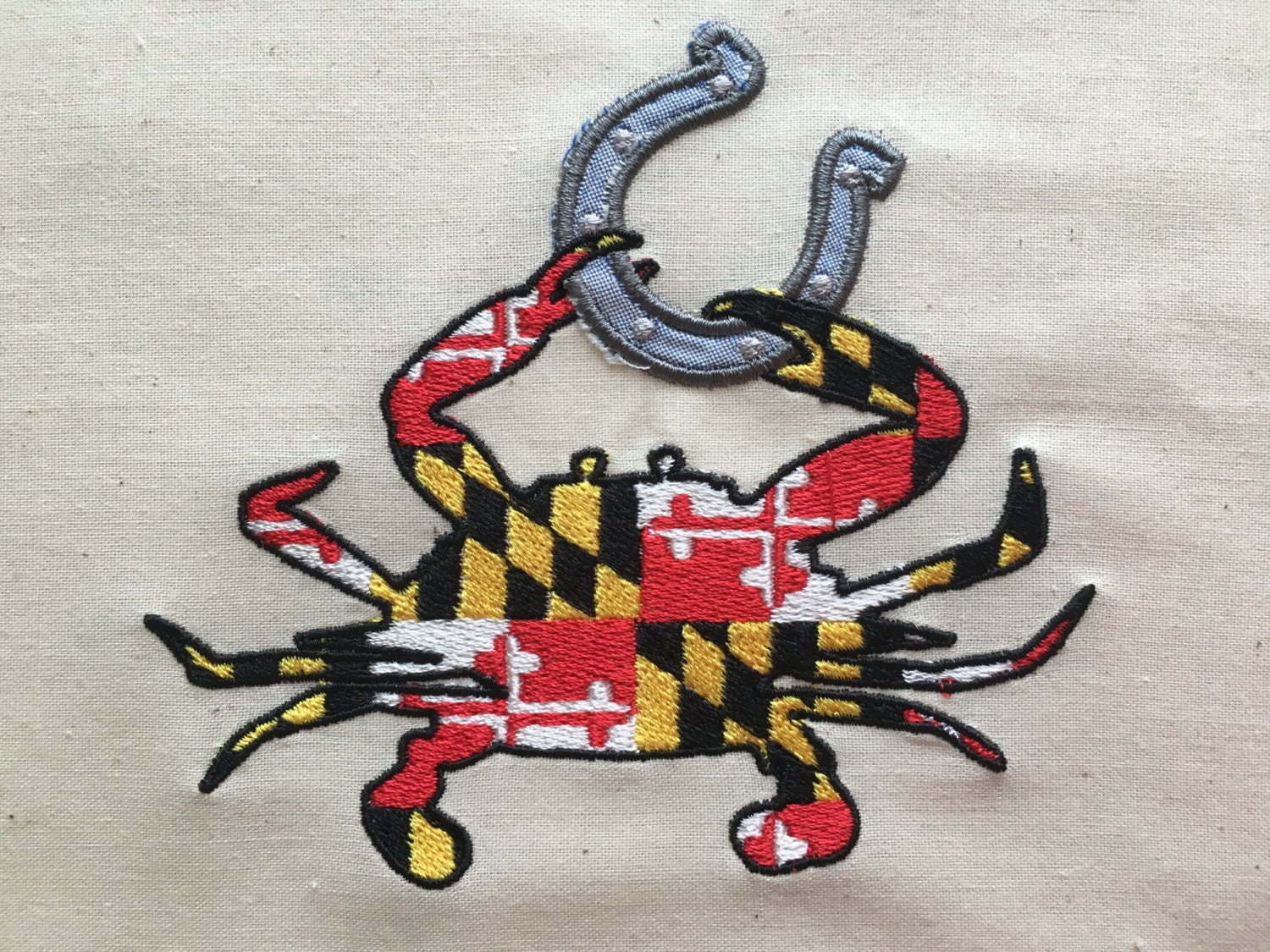 Maryland Flag Embroidery Design