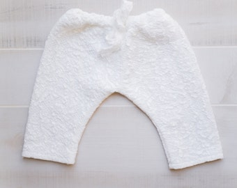 White, Lace, Stretchy Infant Trouser Ready Made