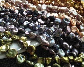 Coloured Keshi Freshwater Pearls - Batch E10