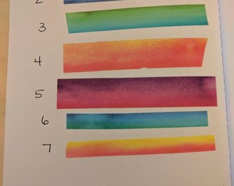 Recollections Watercolor Washi Sample - 24 inches - choose your style