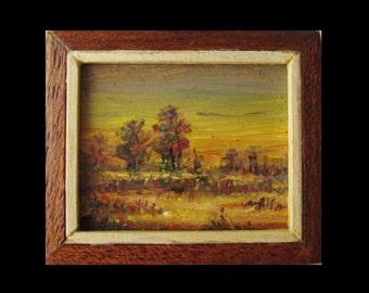 Landscape at sunset 3. Landscape at sunset 3