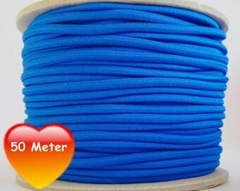 50 M rubber cord 3 mm blue