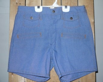"""1960s/70s """"Long Jons"""" Jean Shorts - Dead Stock Perfect Condition"""