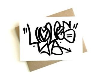 Graffitisms 'Loves Ya' Greeting Card {Original}