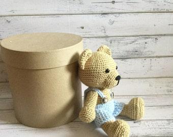 Crochet teddy bear  | Bear plushie | Bear plush | Teddy bear plush | Bear nursery | Bear baby shower | Bear boy plush | Bear amigurumi