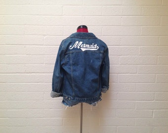 Unique Painted Jean Jacket Related Items Etsy