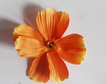Orange hair clip