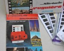 Viewer Bruguière red vintage 70 s / thematic pilgrimage Lourdes