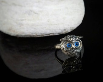 Ring, owl head, ancient greek jewelry, bijoux grec anneau hibou, griechischen ring eule, argento guffo anello greco, owl ring