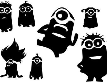 Minions  svg,Minions eps,Minions silhouette,Minions file, cutting files,instant download, Minions cutting file, Minions silhouette files