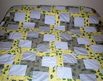 Handmade Quilt Using John Deere Fabric