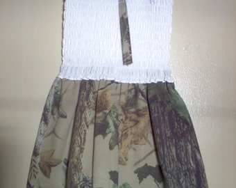 Hanemade  Girls Sundress Using Camouflage Fabric
