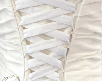White lacing for corset wedding dress