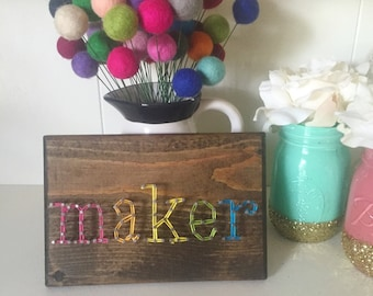 Free Shipping | Maker Sign, Craft Room Decor
