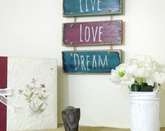 Boho Bedroom Decor | Hanging Sign | Motivational Art | Inspirational Sign | Wall Decor | Wooden Sign For Girls Room | Christmas Gift For Her