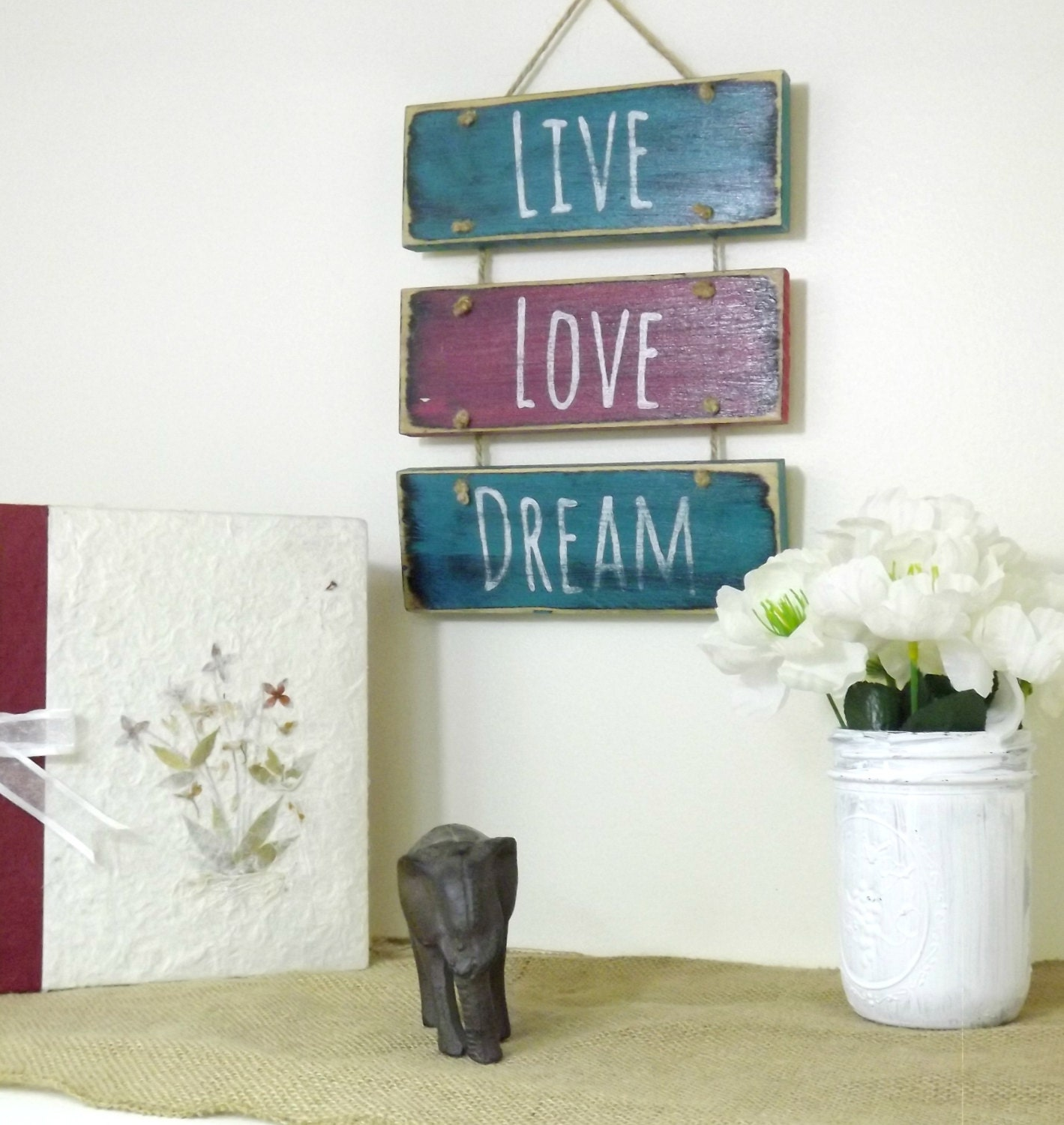 Boho bedroom decor hanging sign motivational art for Bedroom gifts for her