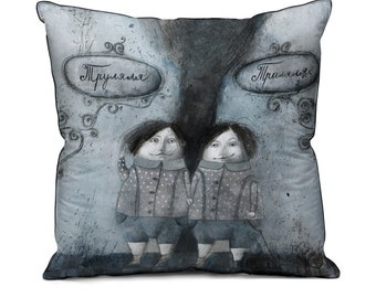 "Pillowcase "" Trulala and Tralala """